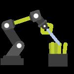 Roboterarm der ein Objekt greift