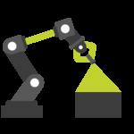 Roboterarm der scannt